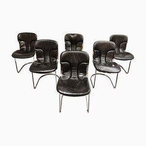 Vintage Dining Chairs by Willy Rizzo for Cidue, Set of 6, 1970s