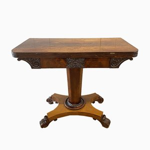 Antiker William IV Flame Tisch aus Mahagoni