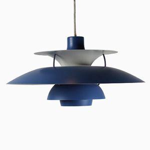 Lampe, Modèle PH 5, Bleue par Poul Henningsen pour Louis Poulsen
