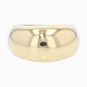 Modern 18 Karat Yellow Gold Bangle Ring