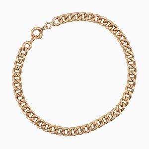 French 18 Karat Rose Gold Curb Chain Bracelet, 1960s