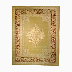 19th-Century Green and Purple Red Amritsar Rug, 1890s