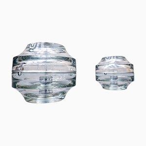 Moderne Italienische Mid-Century Glas Tischlampen, 1960er, 2er Set