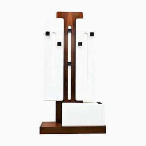 Italienische Mid-Century Modern Holz Garderobe, 1960er