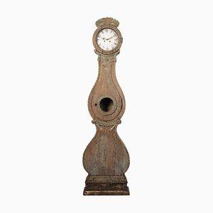 Early 19th-Century Swedish Pine Rococo Long Case Clock