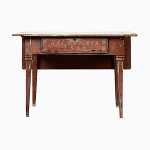 19th-Century Swedish Pine Gustavian Country Side Table