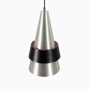 Model Corona Pendant Ceiling Lamp in Aluminum by Jo Hammerborg for Fog & Morup, Denmark, 1963