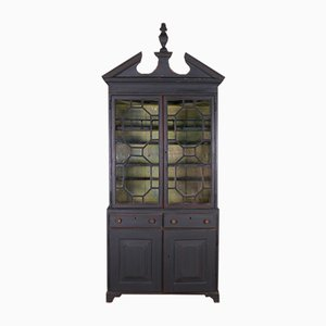 Painted Glazed Display Cupboard
