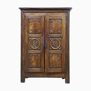 French 18th--Century Carved Fruitwood Armoire