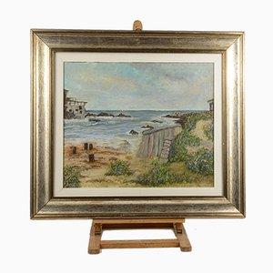Coastal View Painting, 1980s