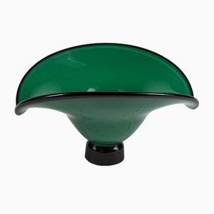 Black Handmade Murano Glass Bowl, 1980s
