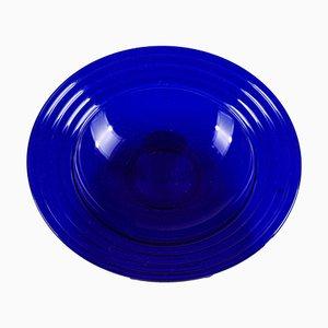 Blaue Schale aus Muranoglas, 1980er