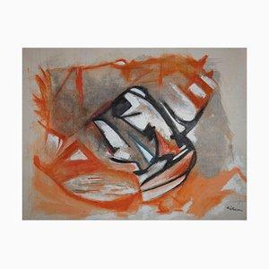 Giorgio Lo Fermo, Orange Spots, Oil on Canvas, 2021