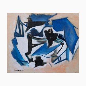 Giorgio Lo Fermo, Blau und Schwarz, Öl auf Leinwand, 2020