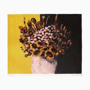 Blumenstrauß in Schwarz und Gelb von Jean-Claude Allenbach