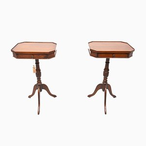 Walnut Side Tables, England, Set of 2