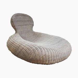 Large Lounge Armchair in Rattan by Carl Öjerstam for Ikea, 2000s
