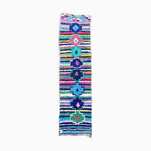 Tappeto Boucherouite berbero di 70 x 265 cm