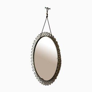Vintage Mirror in Brass by Josef Frank for Svenskt Tenn, 1950s