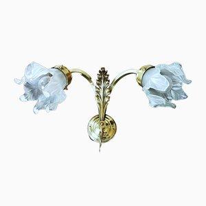 Französische Jugendstil Wandlampen, 2er Set