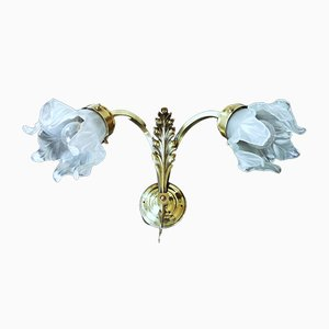 French Art Nouveau Wall Lamps, Set of 2