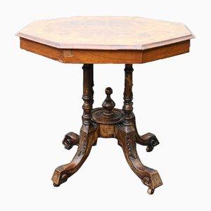 Mahogany Side Table with Inlay, 1920s