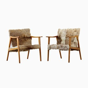 Scandinavian Easy Armchairs, Set of 2