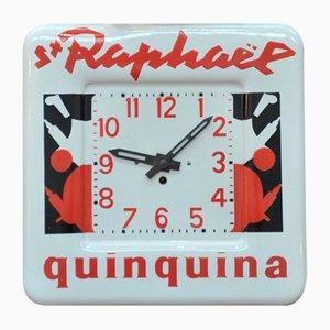 St Raphaël Quinquina Enamelled Promotional Clock