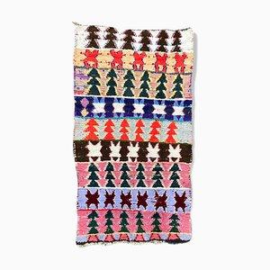 Berber Boucherouite Carpet of 110 x 220 cm