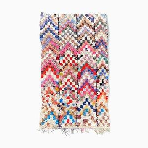 Berber Boucherouite Teppich von 125 x 220 cm