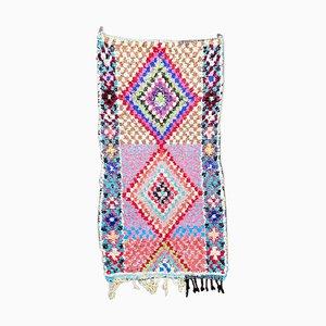 Berber Boucherouite Teppich von 95 x 180 cm