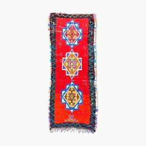 Tappeto Boucherouite berbero di 90 x 220 cm