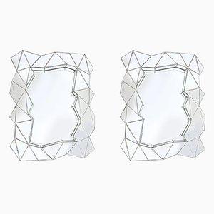 Espejos geométricos, años 70. Juego de 2