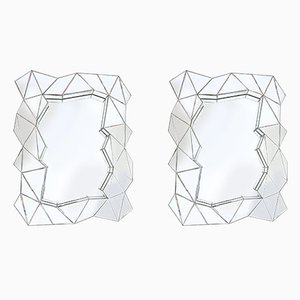 Geometric Mirrors, 1970s, Set of 2