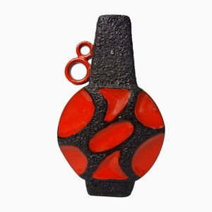 Mid-Century Lava Vase from Roth, Germany, 1960s