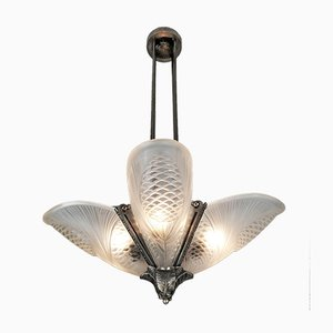 Art Deco Ceiling Lamp by Jean Noverdy
