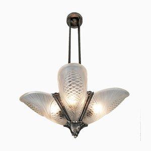 Art Deco Deckenlampe von Jean Noverdy