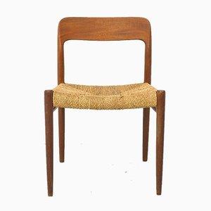 Danish Teak Dining Chair 75 by Niels Otto (N. O.) Møller for J.L. Møllers