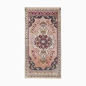 Faded Hand Knotted Door or Entryway Rug