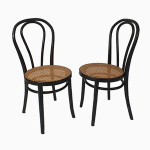 Mid-Century Bentwood & Cane Dining Chairs by Michael Thonet for ZPM Radomsko, 1960s, Set of 2