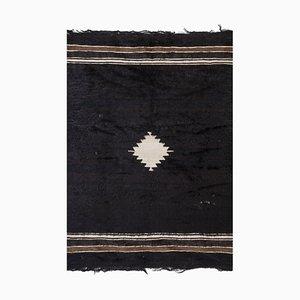 Vintage Turkish Striped Kilim Blanket