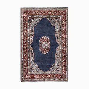 Anatolischer antiker marineblauer Teppich