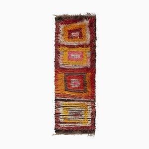 Vintage Turkish Shaggy Tulu Runner Rug