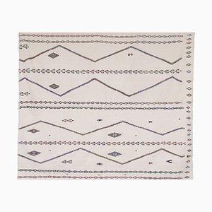 Türkischer Weißer Vintage Karapinar Kelim Teppich von 510 x 611 cm
