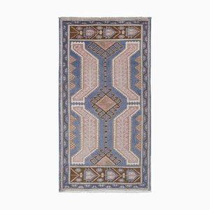 Kleiner türkischer Verblaßter Blauer Küchen Teppich Mat