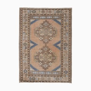 Turkish Oushak Gallery Carpet with Soft Palette