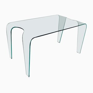 Large Curved Glass Dining Table