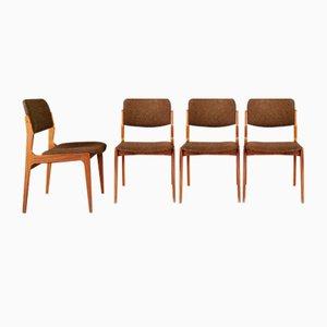 Dänische Teak Esszimmerstühle, 1970er, 4er Set