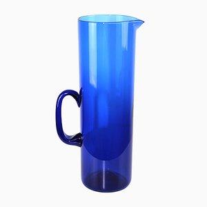 Blue Glass Pitcher in the Style of Kaj Franck, 1960s