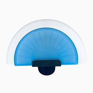 Postmoderne Italienische Wandlampe in Blauer Diva von Arteluce, 1980er